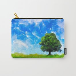 Lone Tree - Abstract Landscape Carry-All Pouch