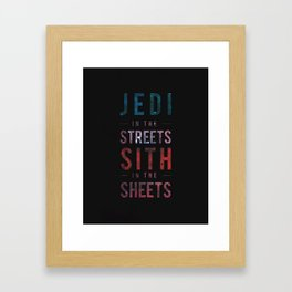 Jedi vs Sith Framed Art Print