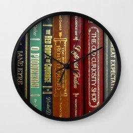 Books 3 Wall Clock
