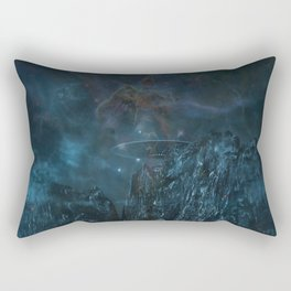 UFO In Space Rectangular Pillow