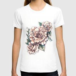 Dusky Pink Roses T-shirt