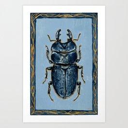 Tasmanian Stag Beetle Art Print