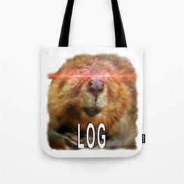 Beaver Log Meme Tote Bag