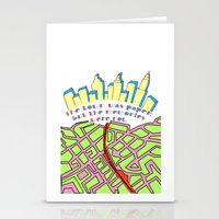 paper towns Stationery Cards featuring Paper Towns by green.lime