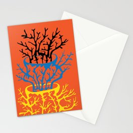 matisse coral Stationery Cards