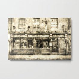 The Golden Lion Pub York Vintage Metal Print