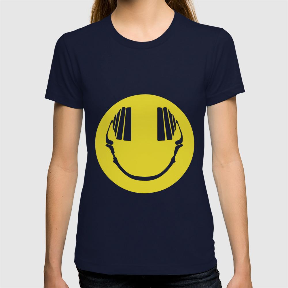 Smiley face dj emoji acid clubber festival dress festival top party lsd dj  emoji T-shirt