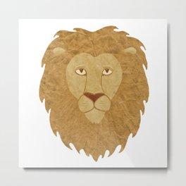 Lion Collage Metal Print