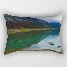 Reflections in Medicine Lake in Jasper National Park, Canada Rectangular Pillow