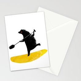 Paddling Bear loves his paddle board and surfing in the ocean. Stationery Cards