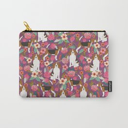 Beagle floral pattern dog breed gifts must have beagles florals pupper Carry-All Pouch