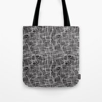 grid Tote Bags featuring Grid by ChantalNathalie