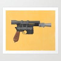 han solo Art Prints featuring Han Solo by Matt Harrison Clough