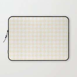 Small Diamonds - White and Cornsilk Yellow Laptop Sleeve