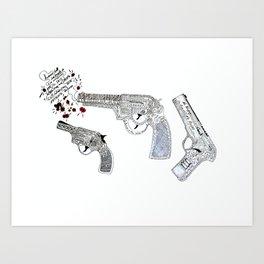 Shoot by art Art Print