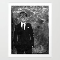 moriarty Art Prints featuring Moriarty by Amy K. Nichols