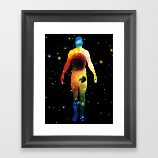 The Universe is in Us Framed Art Print