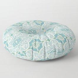Turquoise Elephant Pattern Floor Pillow