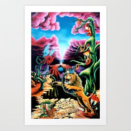 Trippy Psychedelic Visionary Art by Vincent Monaco -The Wrath Art Print