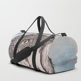 """Northern Lights & """"I Wolves You"""" Nights Duffle Bag"""