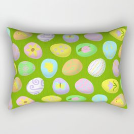 Painted eggs Rectangular Pillow