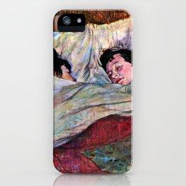 """Henri de Toulouse-Lautrec """"The Bed"""" iPhone Case"""
