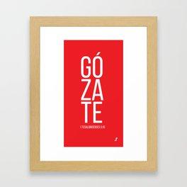Gózate Framed Art Print