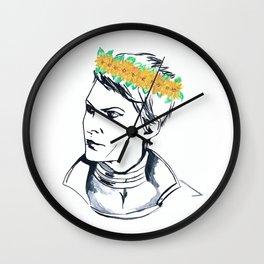 Cassandra Flower Crown Wall Clock