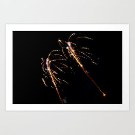 Jets of Fireworks Art Print