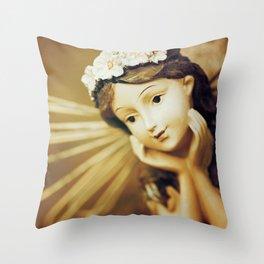 Daydreamer - Vintage Angel Throw Pillow