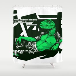 Amphibian DNA - Dienonychus Shower Curtain