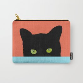 Black Hidden Cat Red Carry-All Pouch
