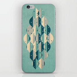 50's floral pattern IV iPhone Skin