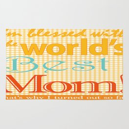 Mothers day artwork gift Best MOM ever Rug