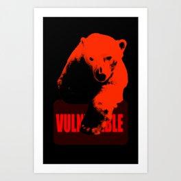 Vulnerable Polar Bear Art Print