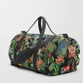 Vintage & Shabby Chic - Midnight Tropical Garden Blue Heron Duffle Bag