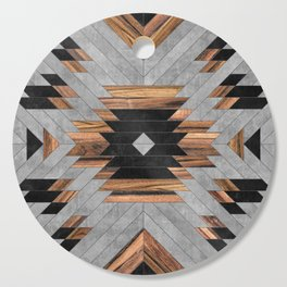 Urban Tribal Pattern No.6 - Aztec - Concrete and Wood Cutting Board
