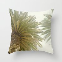 palm trees Throw Pillows featuring Palm Trees by The ShutterbugEye