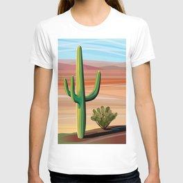 Saguaro Cactus in Desert T-shirt