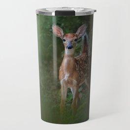 Woodsy Summer Fawn Travel Mug