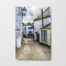 Fore Street Port Isaac Metal Print