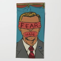 The Fear Hate Factor Beach Towel