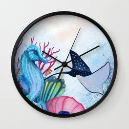 Sea pastel Wall Clock