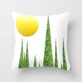 Evergreen Landscape Throw Pillow