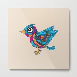 Mechanical Bird Metal Print