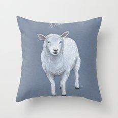 Sheepish Lamb Throw Pillow