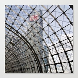 train station of glass in Berlin Canvas Print