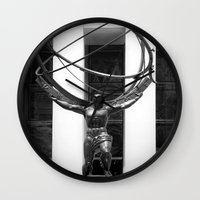 atlas Wall Clocks featuring Atlas by Jon Cain