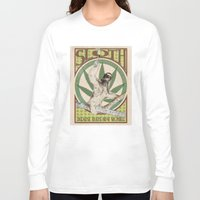 sloth Long Sleeve T-shirts featuring Sloth by PsychoBudgie