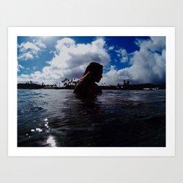 Hawaiian Silhouette Art Print